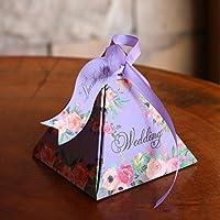 UKBIOLOGY Süßigkeiten-Blumen-Box aus Papier für Hochzeiten, dreieckig, Geschenkbox, Party preisvergleich bei billige-tabletten.eu