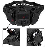 DCCN Tactical Hüfttasche Bauchtasche Militär Gürteltasche mit 5 Fächer inkl. Reißverschluss für Outdoor Sport Trekking Wandern Running - 3