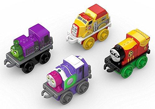 New Thomas and Friends Minis Superhero Pack of 4 - Brilliant Stocking Filler Thomas The Tank Engine Toys