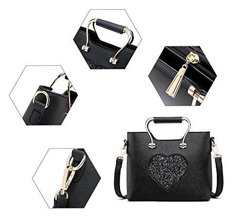 Pacchetto Ladies, versione coreana della borsa di moda semplice, borsette selvatiche delle spalle, zaino obliquo ( Colore : Nero ) Blu zaffiro