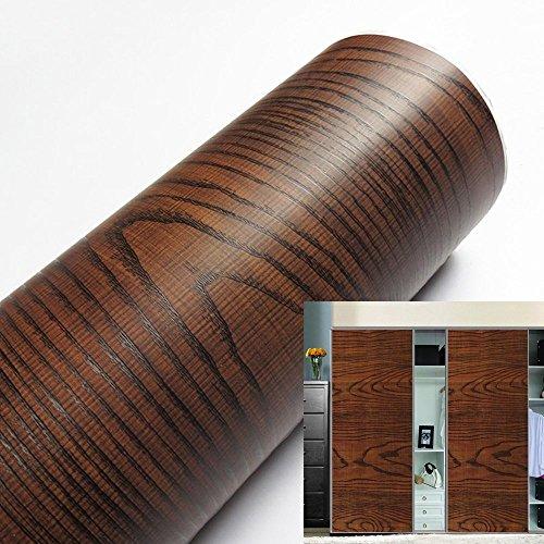 Yazi Wasserdichte selbstklebende Fliesen-Aufkleber für Möbel, Renoviert, Holz-Optik Acacia