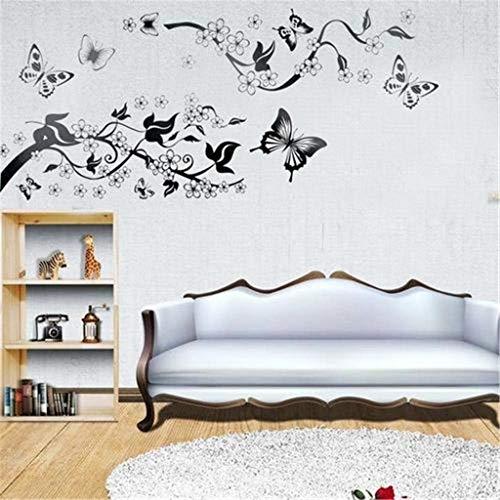 Zimuuy DIY Wandaufkleber Mobile Kreativ Schmetterling Tuschmalerei Wandsticker Wohnzimmer Schlafzimmer Dekoration Wandtattoo