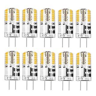 10 Stück G4 LED Lampe 3.5W, Warmweiß 3000K, AC/DC 12V Gleichwertige 30W Lampe Alogena, 350LM, Betrachtungswinkel.