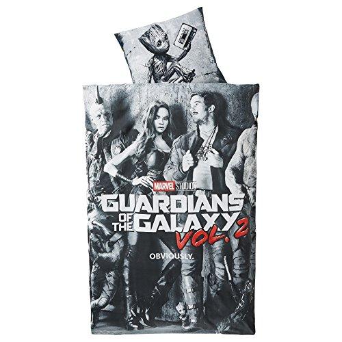 Original Guardians of the Galaxy Vol.2 Linon-Wende-Bettwäsche Garnitur 135x200 80x80 Baumwolle -