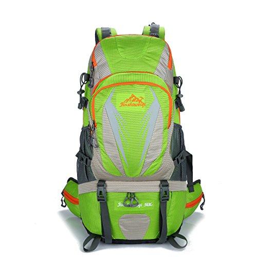 Outdoor Neue Bergsteigen Tasche Groß Kapazität Im Freien Rucksack Lässige Kleidung Camping Tasche Green