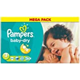 Pampers Baby Dry Mega Paquet de 104 couches culottes Taille 3 + (4-9 kg)