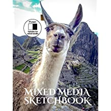 Mixed Media Sketchbook: An extra large mixed media sketchbook with black backed pages: Volume 3