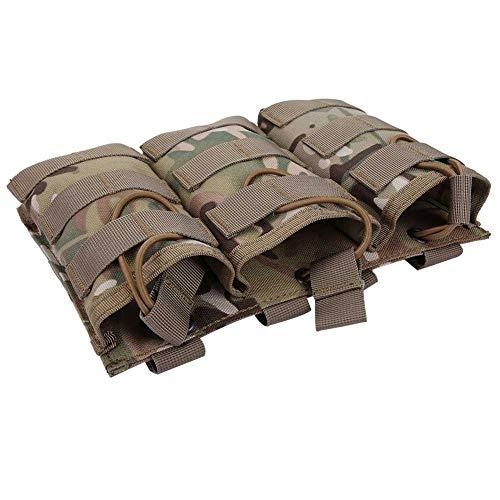 Airsoft molle Taschen Molle Pouch Triple Mag Pouch Taktisch Triple Open Top Molle Magazine Halter Tasche Militärtasche für Weste Outdoor Zubehör(CP) (Airsoft-zeitschriften-halter)