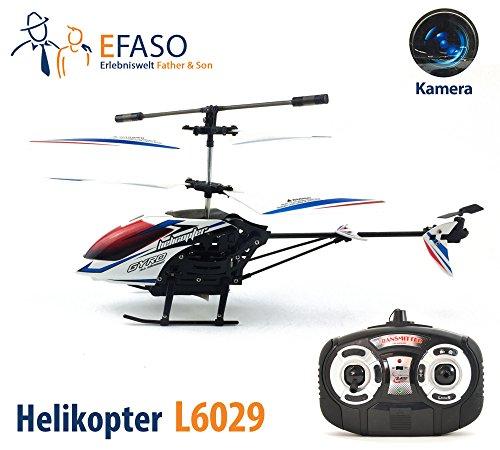 efaso RC Helikopter L6029 2,4 GHz 3-Kanal Hubschrauber mit Kamera, Gyroskop, LEDs, RTR