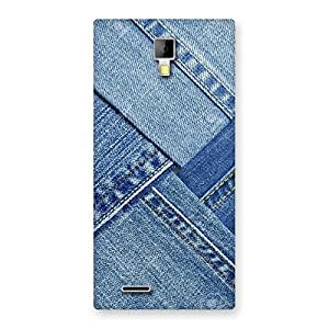 Cute Denim Texture Print Back Case Cover for Micromax Canvas Xpress A99