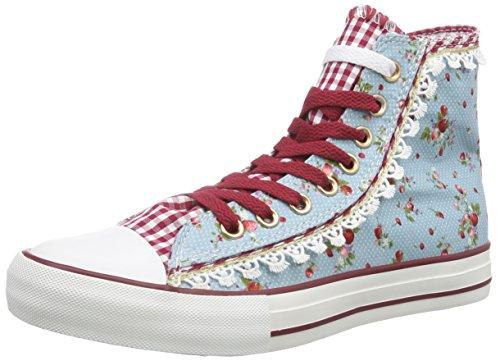 rry, Damen Hohe Sneakers, Mehrfarbig (hellblau/81), 41 EU (Chucks Kleidung)