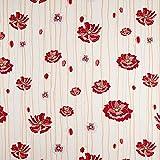 Fabulous Fabrics Jacquard Gobelin Blumen – hellblau/Creme