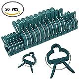 Giardino Piante Clip, Supporto Clip di Plastica Peg Molla Morsetti per Sostenere Gambi, Viti, Steli,20Pcs