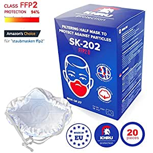 20x Staubmasken Feinstau FFP2   Atemschutzmaske staubmaske staubfecht Respirator Disposable Breathing Dust Mask Staubmasken Feinstaubmaske Staubmaske filter   Air Filtration with Electrospun Nanofiber