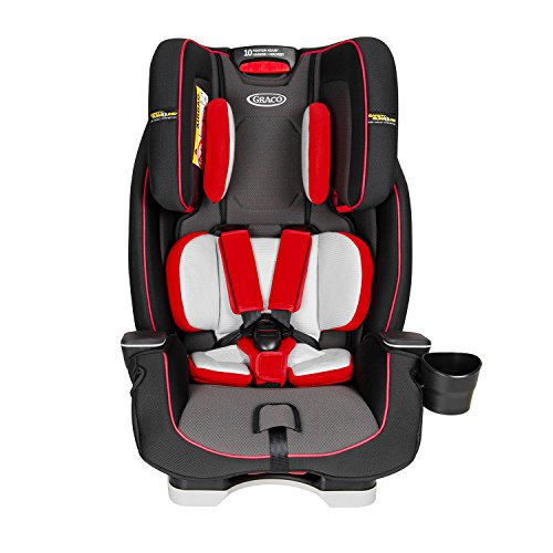 Graco Milestone LX All-in-One Car Seat Featuring Safety Surround Side Impact Protection, Group 0+/1/2/3, Fiery Red