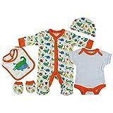 Baby-Girls White Orange Safari Animals Presents Gifts - Best Reviews Guide