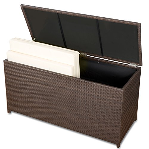 auflagenbox kissenbox xxl gartenm bel wasserdicht polyrattan top. Black Bedroom Furniture Sets. Home Design Ideas