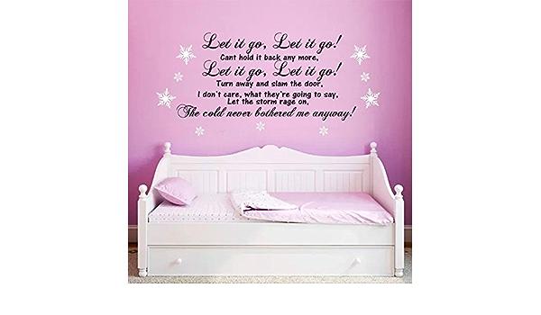 Let it go Lyrics Frozen Disney Wall Sticker Art Boy Girl Bedroom Graphic