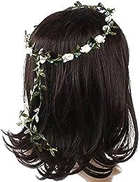 Guirlande Florale Fille Femme Fête Mariage Boho Bande de Cheveux