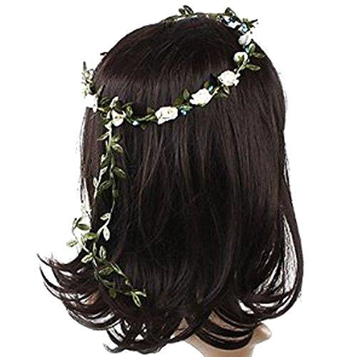 Sanwood Lady Girl Boho Floral Flower Festival Wedding Garland Forehead Hair Head Band 8 Colors Test