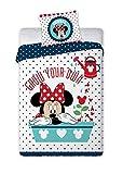 Disney 2 TLG Kinderbettwäsche 100x135 40x60 Minnie Mouse 053 Bettwäsche Babybettwäsche