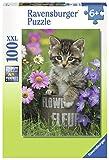Ravensburger Puzzle–10847–Kätzchen Unter Den Blumen–100Stück