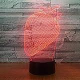 Lampada Illusione Ottica 3d Led Luce Notturna 7 Colore Fragola Scrivania Decorazione Lampade Per Bambino Camera Da Letto Bambini Compleanno Regalo