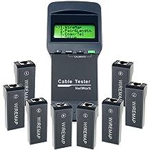 Red Ethernet Comprobador De Cables De Red Patch Cable Tester Fur RJ45 RJ11 5E 6E