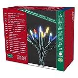 Konstsmide 6310-520 LED Minilichterkette/für Innen (IP20) 230V Innen/One String/mit 8 Funktionen, Steuergerät und Memoryfunktion / 140 bunte Dioden/grünes Kabel