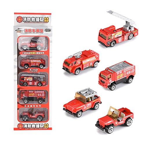 Modell Spielzeug Set, Sport Auto/Polizei Auto/Feuer Kämpfen LKW/Militärfahrzeuge / Engineering Fahrzeuge ziehen Auto Spielzeug für Geschenk Sammlung Feuerwehrauto ()