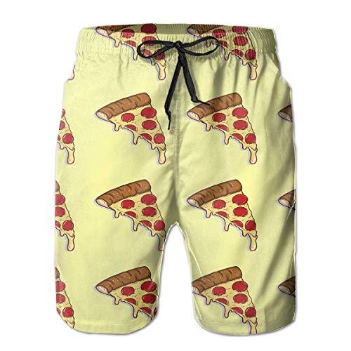 Pizza Pattern Cheese Farbe Extreme Comfort Badehose Big & Tall Half Pants für Herren Boy Fast Dry Sportwear L -