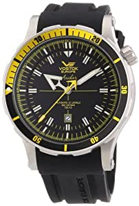 Vostok - 09VS001 - Montre Homme - Automatique - Analogique - Bracelet Cuir Noir
