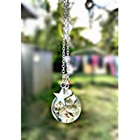 Dandelion Star Charm Necklace Pendant with Sterling Silver Chain with GIFT BOX Personalized Gift Birthday Gift Jewelry for women and girls