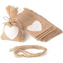 Advantez 10-Pack Naturale Iuta Della Tela Da Sacchi Sacchetti di Favore Del Regalo Candy Borse Rustic Wedding Bridal Shower