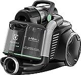 Electrolux euf8green Staubsauger ohne Beutel Ultraflex, System Motion Control, Hygiene Filter 12, Black/Sage Green