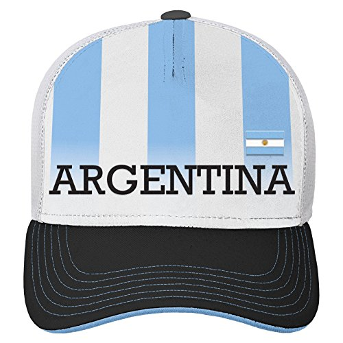 0d3391f6807 Team Argentina World Cup Soccer Federation Jersey Trikot Hook Structured  Mesh Back Hat Hut