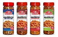 Kumar Hing Jeera, Cheese Tomato, Pasta Masala, Chatpata Masala Roasted Peanuts (130gm Each) Premium Flavored Peanuts