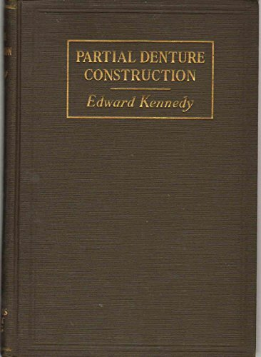Partial denture construction;: A text book describing the technics of impression taking and the construction of that type of removable partial dentures ... and retained by external attachments,