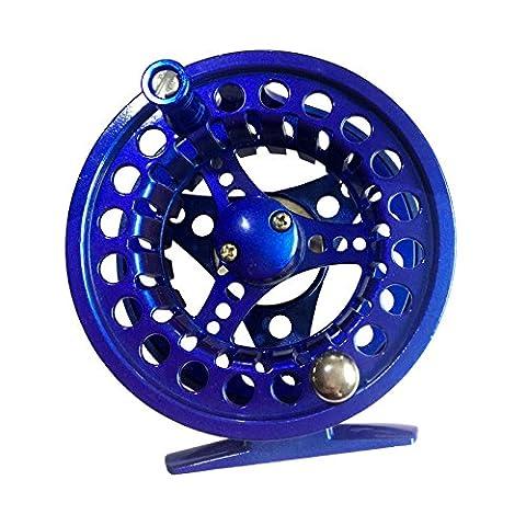 Seasofbeauty bobine moulinets mouche de pêche fly fishing reel Spool Grande Arbor 7/8 (bleu)