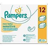 Pampers Sensitive 12 Lingettes pour Bébé