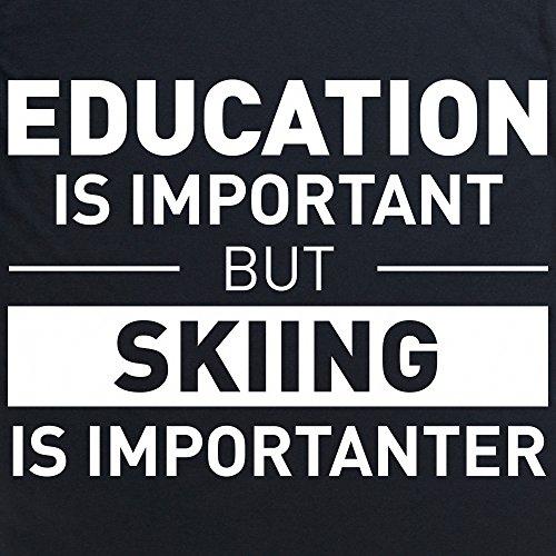 Education Skiing Langarmshirt Funny Novelty Gift, Herren Schwarz