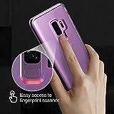Samsung Galaxy S9 Plus Hülle, VRS Design® Transparent Handyhülle [Klar+Violett] Silikon TPU Bumper Cover | Dual Layer Protection case | Ultra dünn hüllen [Crystal Bumper] für Samsung S9 Plus