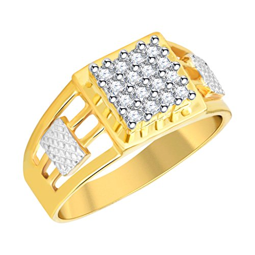 Vidhi Jewels Gold Plated Attractive Brass Finger Ring for Men [VFR322G]