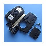 BMWKS11AA - Ersatz Schlüsselgehäuse mit 3 Taste Autoschlüssel Schlüssel Chiavi mit Rohlingtyp HU92 und mit Batterieklappe (für herausnehmbare CR Knopfzelle) Fernbedienung Funkschlüssel Gehäuse ohne Elektronik INION® (für BMW (KS11AA)