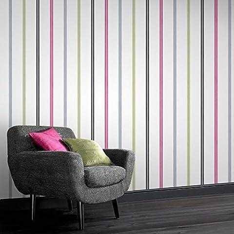 Designer Laurence Llewelyn-Bowen Signature Multi Stripe Wallpaper Was £20 Now £5