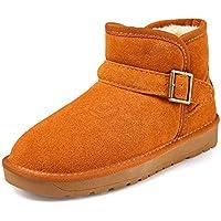Botas Mujer Invierno Botines de Nieve Cortas Tobillo Zapatos Ante Sport Calzado Pelaje Impermeables Slip on Negro Café Gris Amarillo 35-45