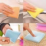 Shagun SMG Multi-Purpose Kitchen Washbasin Foam Pad Sponge Scrubber Wipe for /Utensils/Tiles Cleaning-4 Piece Set