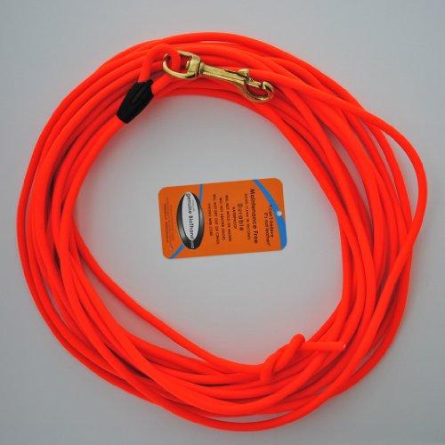 10 Meter Schleppleine Orange aus runder Biothane (coated rope)