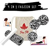Faszien Fitness 4 in 1 Set (S/W): Faszienrolle +...