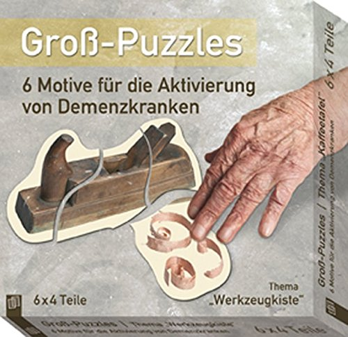 Groß-Puzzles: 6 Motive für die Aktivierung von Demenzkranken: Thema 'Werkzeugkiste'